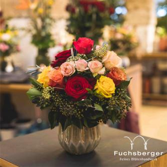 Romantischer Rosenstrauß